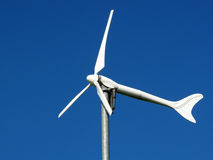 Wind turbine. Renewable energy source for every home Stock Photos