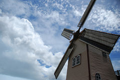 Wind turbine. In cloudy day Stock Photos
