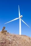 Wind turbine. Looking up a a wind turbine Stock Photography