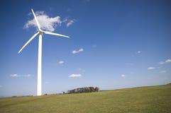The Wind Turbine. Wind turbine against a blue sky background Stock Photography