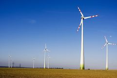 The wind turbine Stock Images