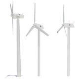 Wind turbine. Isolated render on white. Alternative energy source vector illustration