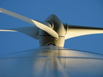 Wind turbine. Detail wind power plant and screw blade Stock Images