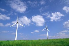 Wind turbine. In a windfarm Stock Photo