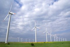Wind turbine. In a windfarm Royalty Free Stock Images