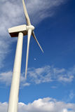 Wind turbine. Detail of wind turbine royalty free stock image