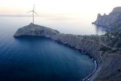 Wind turbine. Royalty Free Stock Image