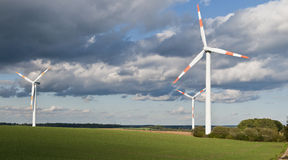 Wind turbine across Stock Photography