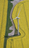 Wind Turbine aerial stock image