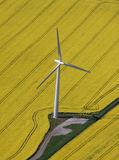Wind Turbine aerial Stock Images