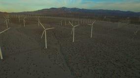 Wind Turbine Aerial stock footage