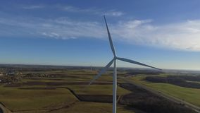 Wind turbine. Aerial view of wind turbine stock video