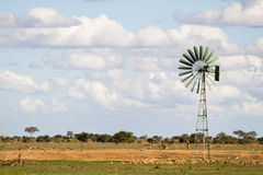 Wind turbine in Africa Stock Photo