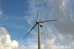 Wind turbine against the sky Royalty Free Stock Image