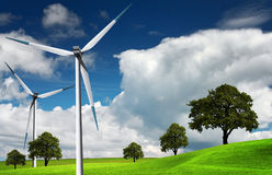 Wind turbine, alternative energy Royalty Free Stock Photos