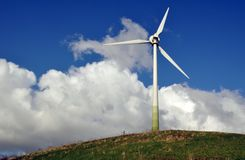 Wind turbine - alternative energy Royalty Free Stock Image