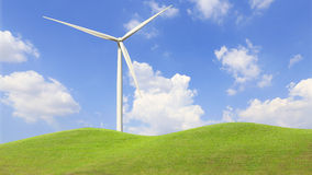 Wind Turbine for alternative energy on background sky Stock Photo