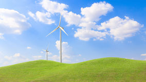 Wind Turbine for alternative energy on background sky Royalty Free Stock Images