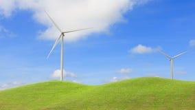 Wind Turbine for alternative energy on background sky Royalty Free Stock Photography