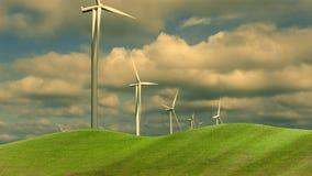 Wind Turbine for alternative energy on background sky Stock Image