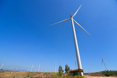 Wind Turbine for alternative energy. Wind Turbine for alternative energy on background sky Stock Images
