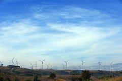 Wind Turbine for alternative energy. Wind Turbine for alternative energy on background sky stock photo