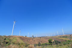 Wind Turbine for alternative energy. Wind Turbine for alternative energy on background sky Stock Photography
