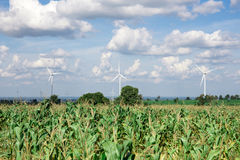 Wind Turbine for alternative energy on background sky Royalty Free Stock Photography