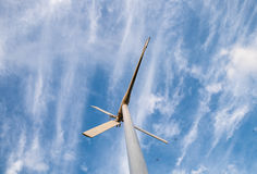 Wind turbine alternative energy clean Stock Photo