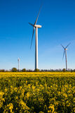 Wind Turbine - alternative and green energy source Royalty Free Stock Photography