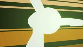Wind Turbine Anim stock video footage