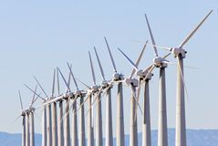 Wind turbine array Stock Photography