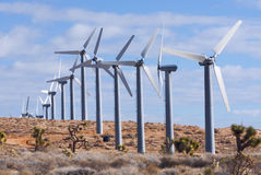 Wind turbine array Royalty Free Stock Photos