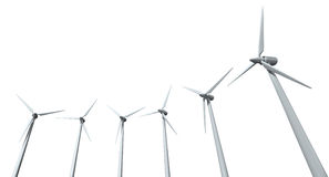 Wind Turbine Array Royalty Free Stock Image