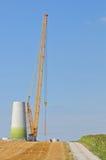 Wind-Turbine-Aufbau lizenzfreies stockfoto
