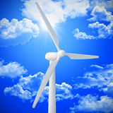 Wind turbine background Royalty Free Stock Photos