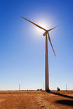 Wind Turbine Backliting Royalty Free Stock Image