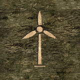 Wind turbine on bark Royalty Free Stock Photos