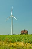 Wind Turbine and Barn Royalty Free Stock Photo