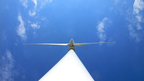 Wind turbine from below Royalty Free Stock Photography