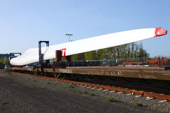 Wind turbine blade Royalty Free Stock Images