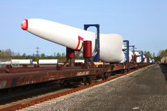 Wind turbine blades. Royalty Free Stock Photography
