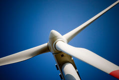 Wind turbine blades Stock Photo