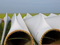 Wind turbine blades detail Stock Photo