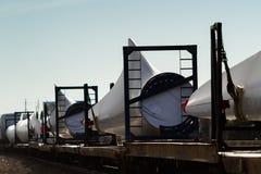 Wind turbine blades Stock Photography