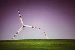 Wind turbine bliss alternative Stock Photography