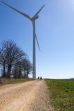 Wind turbine on blue sky Royalty Free Stock Photography