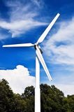 A wind turbine  with blue sky. Stock Photography