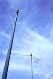 Wind turbine and blue sky Royalty Free Stock Photo