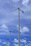 Wind turbine and blue sky Royalty Free Stock Images